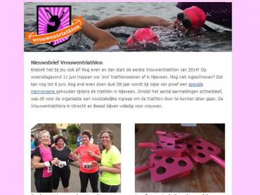 Nieuwsbrief Vrouwentriathlon