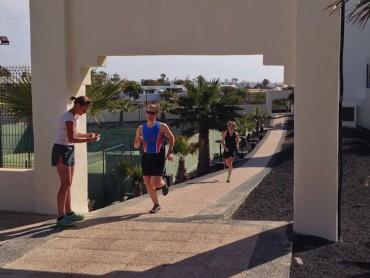 Trainen op Lanzarote