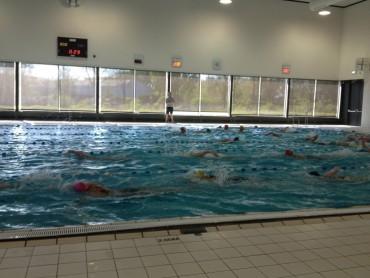 Zwemmen in het zwembad
