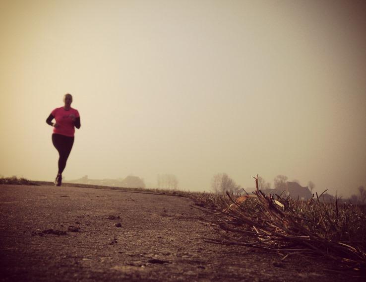 Nienke aan het hardlopen