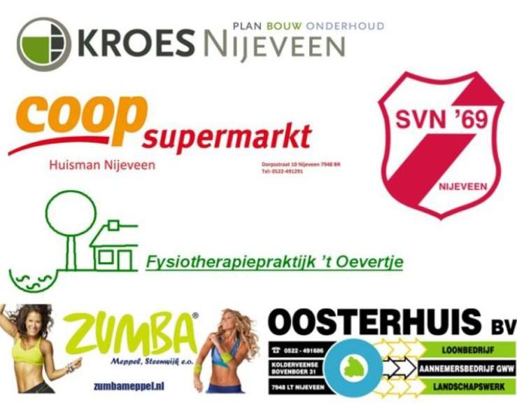 Logo's van de sponsoren