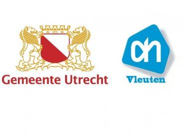 Logo's Gemeente Utrecht en Albert Heijn Vleuten