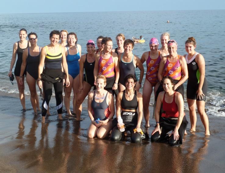 Groep van een trainingsweek op Lanzarote