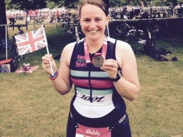 Anne Floor na de finish in Londen