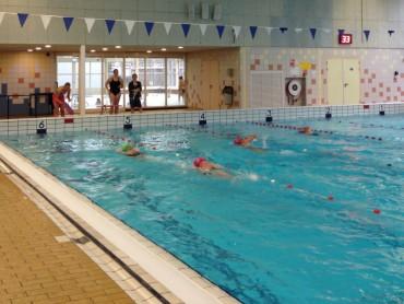 Tijdens de zwemtest
