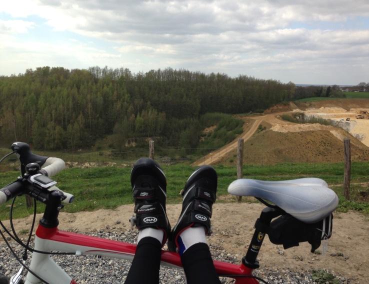 Nienkes voeten en uitzicht halverwege