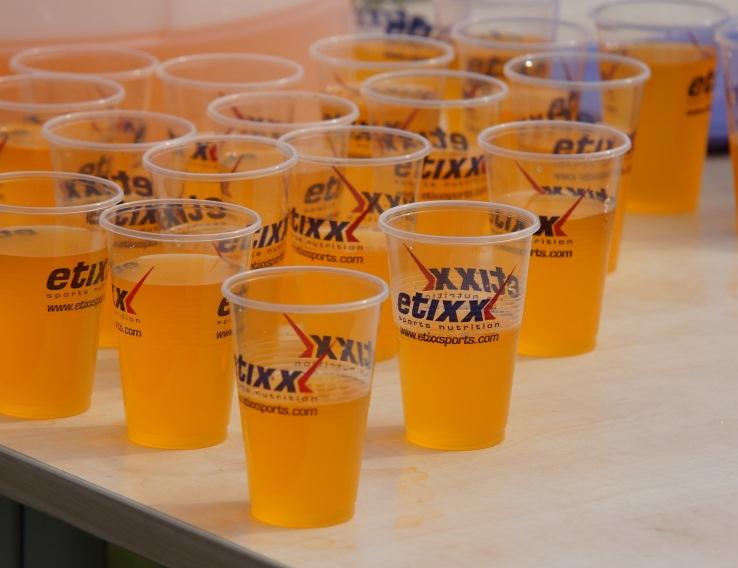Drinken bij de finish
