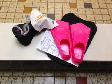 Nienkes spullen voor de borstcrawlcursus
