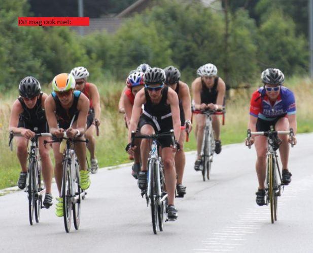 Groepje fietsers