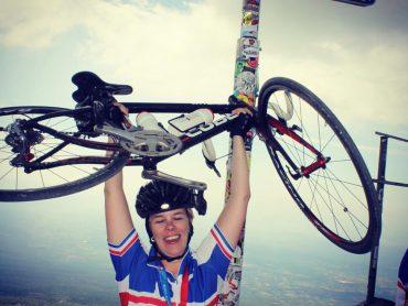 Donna met fiets