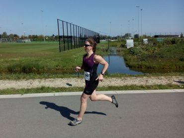Margo aan het hardlopen
