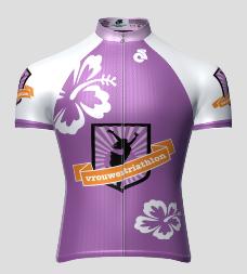 Vrouwentriathlon wielershirt