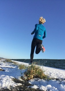 Hardloopster in winterse omstandigheden