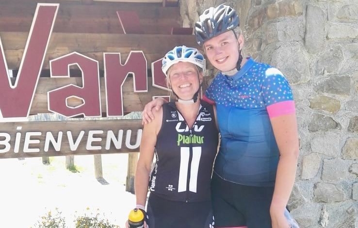 Marion en Ruth op de Cols de Vars